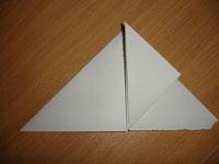 Создание оригами Бомбочка - Шаг 3
