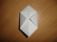 Создание оригами Бомбочка - Шаг 5