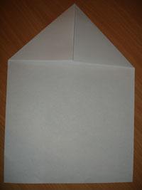 Создание оригами Самолётик - Шаг 1