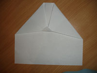 Создание оригами Самолётик - Шаг 3