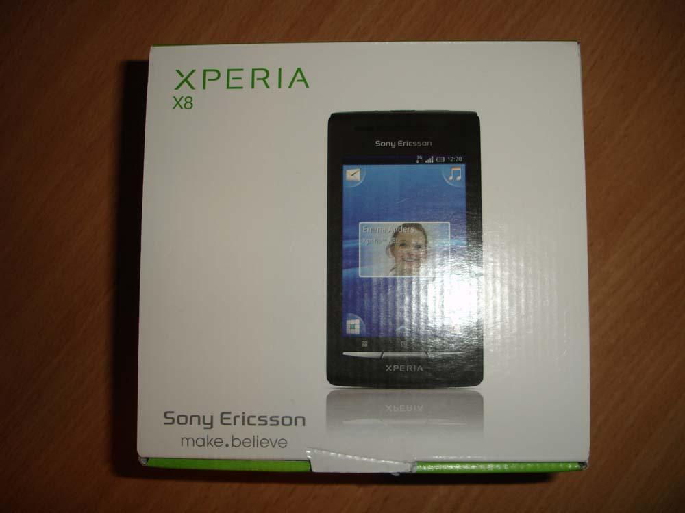 Коробка Sony Ericsson XPERIA X8