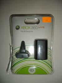 Microsoft Xbox 360 Play & Charge Kit не много распакован